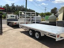 NEW FLAT TOP TRAILER CUSTOM MADE LOCALLY 6000 X 2490MM RATED 3500KG