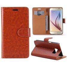 Funda protectora marrón para Samsung Galaxy S7 G930 G930F potada del libro FUNDA