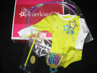 American Girl Doll McKenna's PERFORMANCE SET Hoop LEOTARD Hoop GYMNASTICS outfit