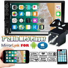 7Inch Double 2Din Car Stereo With Backup Camera Audio MP5 Mirror For Andriod IOS