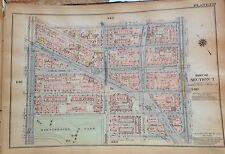 1925 HARLEM APOLLO THEATHER MANHATTAN NYC G.W. BROMLEY ATLAS MAP 12X17