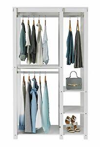 Home Open Decorative Wardrobe Unit - White