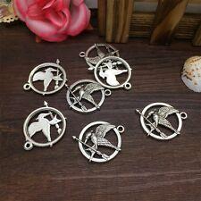 New Charm 4pcs Peace Bird Tibet Silver Pendant Fit for Bracelet Necklace FP28