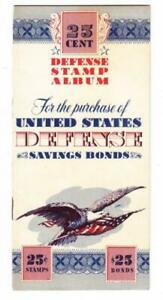 WAR SAVINGS STAMP-Sc#WS8(x5)-25cent DEFENSE STAMP ALBUM For The Purchase