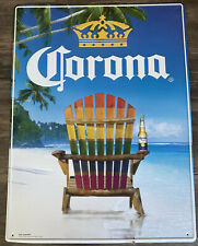 New! Corona Extra Beach Chair Bar Sign Bar Tin Tacker