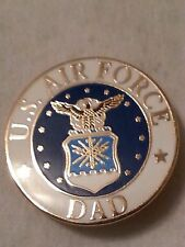 "US AIRFORCE Logo   ""DAD"" Pin 15/16 inch New Lapel Pin !!"