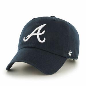 '47 Brand Clean Up Atlanta Braves Cap - Navy