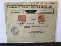 Ford service Palembang Indonesia to Dresden 1929 stamps cover  Ref R28140