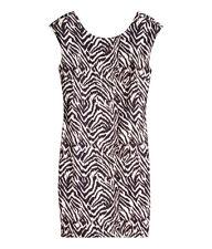 WOMENS H & M ZEBRA PRINT STRETCH BODYCON MINI DRESS XS BNWT RRP £13.99