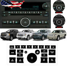 Radio +AC Dash Control Button Fix Kit Panel Decal Sticker For Chevy GM Buick