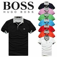 Men's Casual Pure Cotton Short Sleeves Polo Shirt T-shirt Button-Down Tee shirt