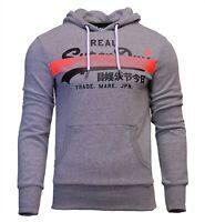 Superdry Mens Vintage Logo Long Sleeve Hoodie Overhead Sweatshirt Grey