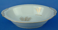 Fukagawa Arita Japan Gold Bamboo Oval Vegetable Bowl White
