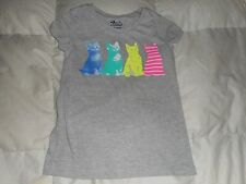 Girls Old Navy Gray Kitty Cat Kitten Top Size Medium (8) Used
