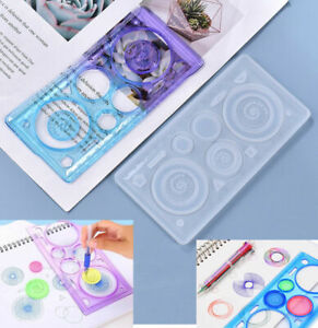 Silicone Geometric Ruler Making Mold Resin Casting Epoxy Mould Craft Accessory