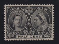 Canada Sc #50 (1897) 1/2c black Diamond Jubilee Mint VF NH