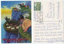 20829-Fata Morgana: fotografía novillos en el nido-postal, corriendo 1993
