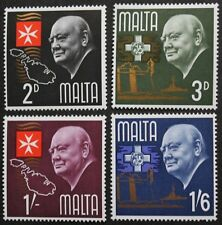 Churchill stamps, Malta,1966, SG ref: 362-365, 4 stamp set, mint, never hinged