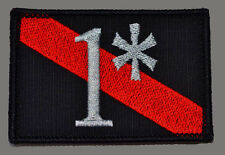 1* ONE ASS TO RISK THIN RED LINE  FIREFIGHTER 3 INCH MORALE HOOK PATCH