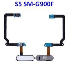Pour Galaxy S5 i9600 G900F Nappe Assemblée du  Bouton Home Blanc OEM