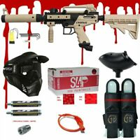 TAN Tippmann CRONUS TACTICAL .68 CAL Paintball Gun Kit READY PLAY BLOOD PACKAGE
