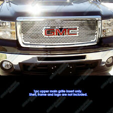 Fits 2007-2013 GMC Sierra 1500 Stainless Steel Punch Grille Grill Insert