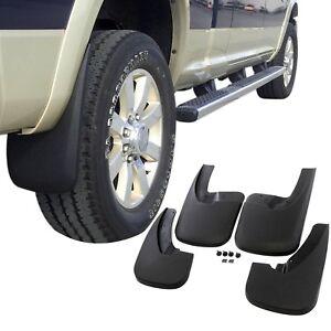 Fits Dodge Ram 1500 Mud Flaps 09-18 Guards Splash Lip Flares 4 Piece Front Rear