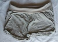 Used Women's Liz Lange Maternity Tan Khaki Shorts Size Large Women's Shorts
