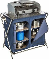 Camping Folding Cooking Table Portable Kitchen Utility Sink Food Prep NEW