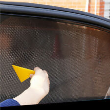 2x Car Rear Side Window Sun Shade Mesh SUV UV Protection Large pair Film Sticker