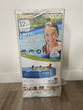 """New listing Pr Shipping - Intex 12' x 30"""" Metal Frame Above Ground Pool with Filter Pump New"""