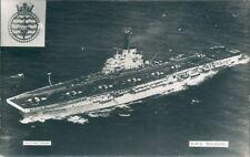 Postcard Sized Photo Royal Navy Aircraft Carrier HMS Bulwark