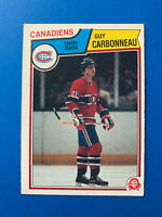 Guy Carbonneau Rookie 1983-84 #185 O-Pee-Chee Hockey Card Montreal Canadiens OPC