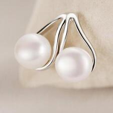 Ruyi Fashion Earrings Freshwater Pearl Silver Plated Ear Stud