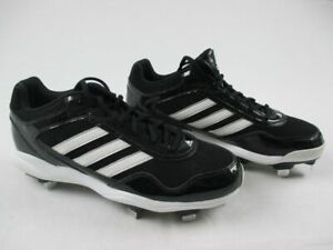 adidas Low Cut Basic - Black/White Cleats (Men's 11) - Used