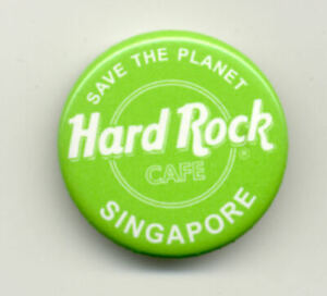 Hard Rock Cafe Singapore Green Button
