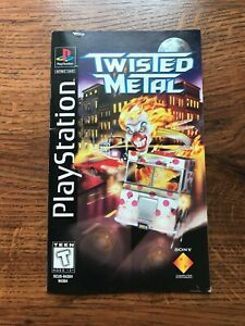 Twisted Metal Longbox Long Box PS1 Playstation 1 PS One Instruction Manual Only