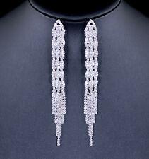 5 Inches Long Austrian Crystal Rhinestone Chandelier Dangle Earrings Bridal E127