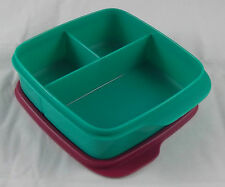 Tupperware Clevere Pause Grün / Weinrot 550 ml Lunchbox Box Dose Büchse Neu OVP