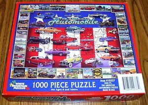 The American Automobile Jigsaw Puzzle 1000 White Mountain  Vintage Cars COMPLETE