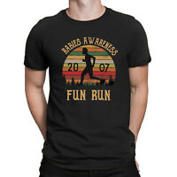 Rabies Awareness 2007 Fun Run Office Scott TV Show Funny Vintage Men T-shirt