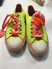 4b01370dabc3 Converse All-Star Women s 8 Men s 6 Neon yellow sneakers shoes double laced