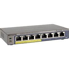 Netgear GS108PE-300EUS, Switch, grau