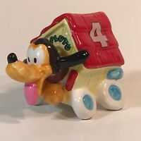 Vintage Enesco Walt Disney Pluto in Racing Dog House Car #4 Figurine 200107