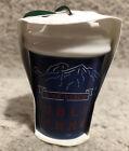 Blue Starbucks PIKE PLACE PUBLIC MARKET Christmas Ornament 2017 NEW Ceramic 1pc