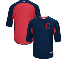 Cleveland Indians Majestic Authentic Collection On-Field Batting Practice Jersey