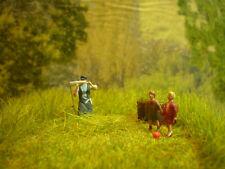 H0 Diorama HO 1:87 Grasernte zum Bauernhof Gehöft Wiese Handarbeit EINZELSTÜCK