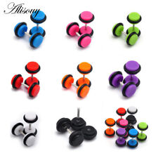 1Pair Cheater Faux Fake Ear Plugs Gauges Tapers Barbell Fashion Earrings Jewelry