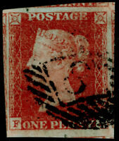 SG8, 1d red-brown PLATE 52, FINE USED. Cat £30. 4 MARGINS.