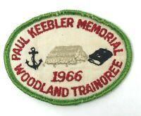 Boy Scouts Paul Keebler Memorial Woodland Trainoree 1966 Patch Vintage